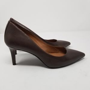 Vince Camuto Beautiful Brown Leather Heels
